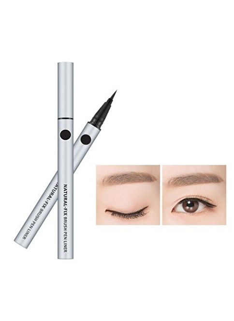Missha Natural Fix Brush Pen Liner (Black) Siyah
